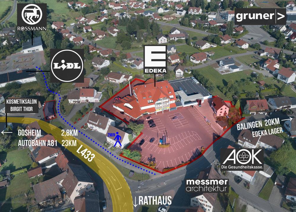 Luftbild mit Grenzen Grundstücksgrenzen Lageplan Lageübersicht