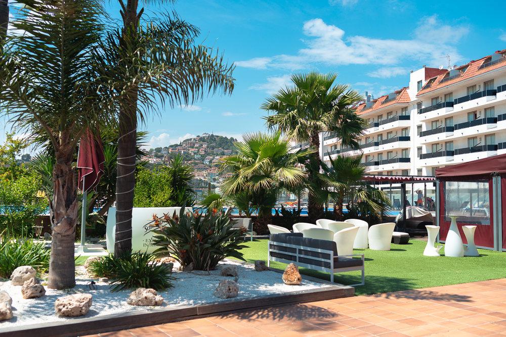 Hotel Außenanlage in Spanien