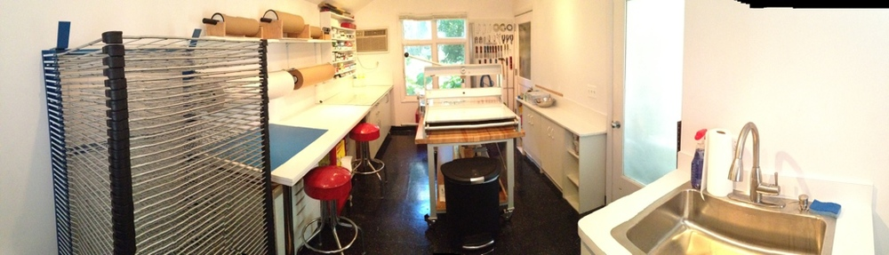 A pano scan view of the A2 Print Studio.
