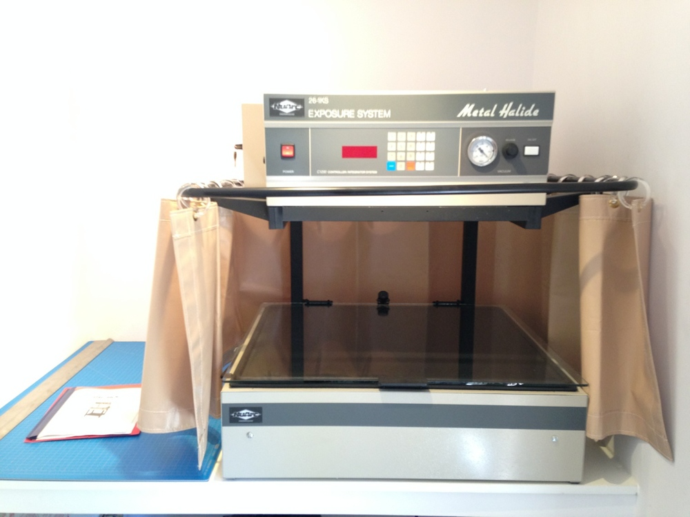 The NuArc Exposure Unit with vacuum table for exposing photolithographic plates.