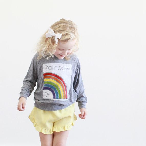 Rainbow Shirt from Etsy Shop, Plucky Mustard