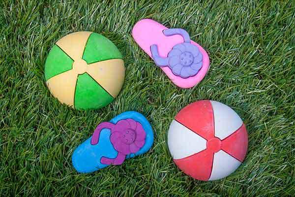 Sidewalk Chalk molded into fun shapes