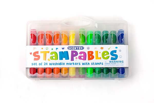 Set of 24 markers comes with a plastic carrying case