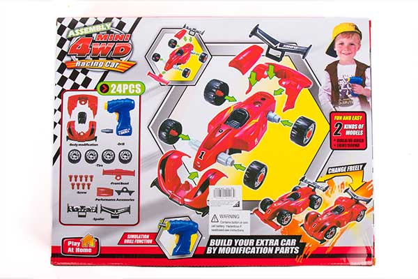 The bottom right corner of the box shows how the car style can be changed by changing the front and back parts.