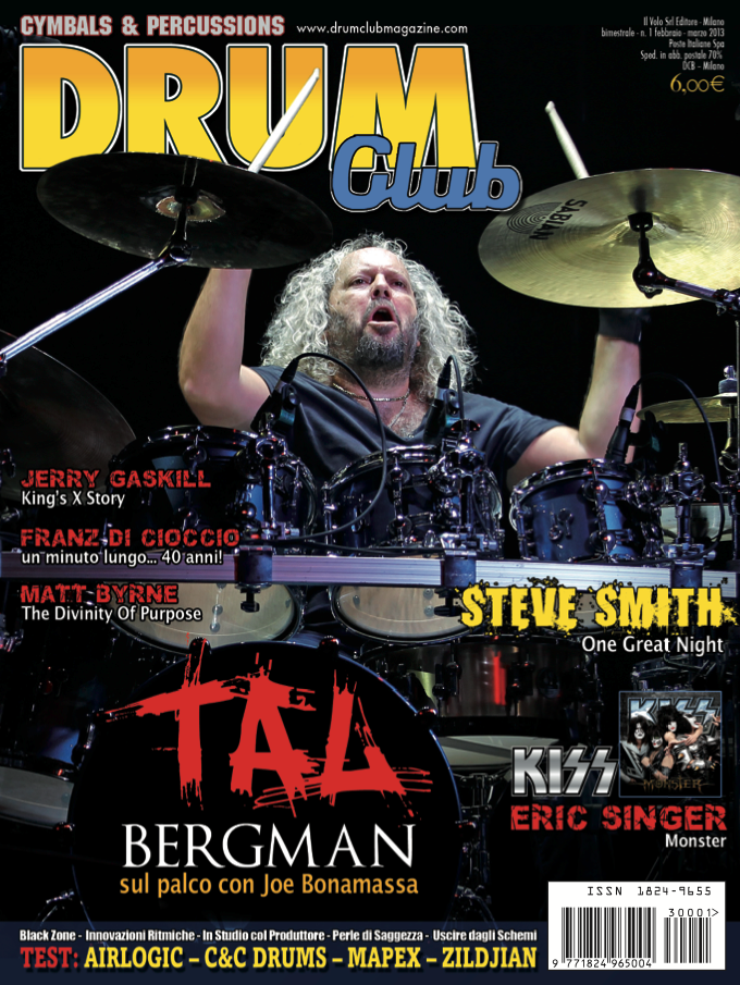 Drum Club cover feb 2013 Tal Bergman