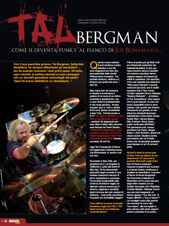 Drum Club feb 2013 Tal Bergman page 1
