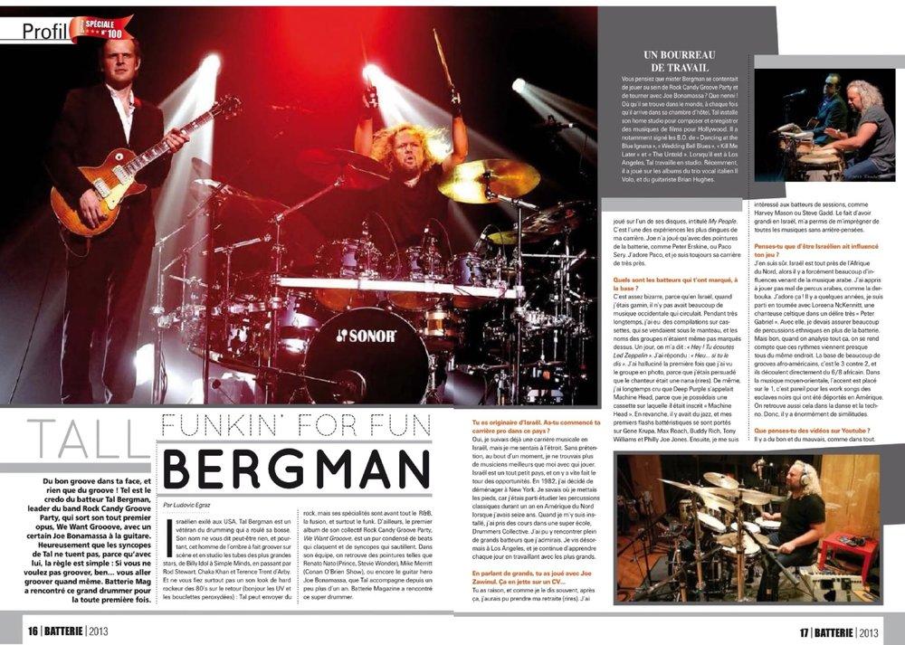 BATTERIE Tal bergman Page 1-2 2013