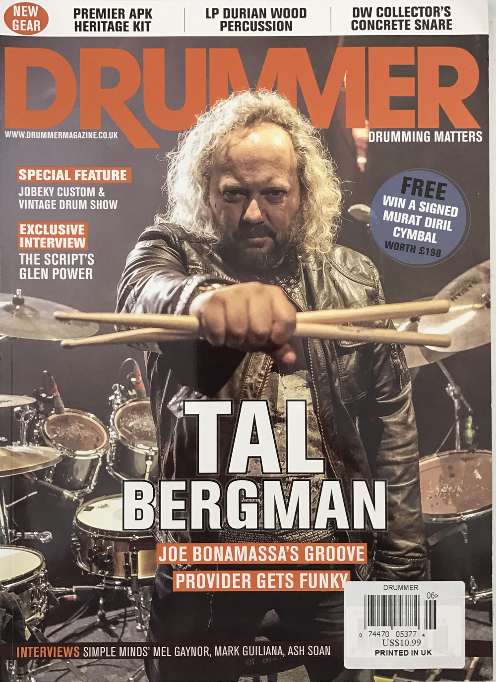 DRUMMER MAGAZINE JUNE 2013 TAL BERGMAN COVER