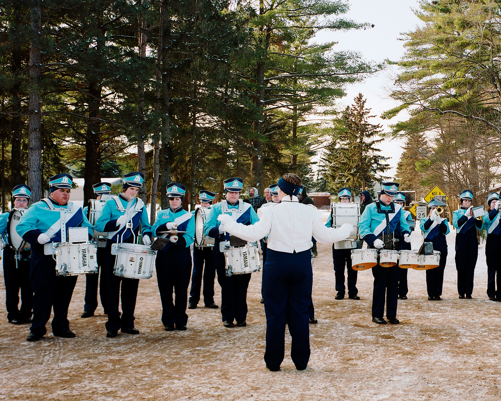 Local Marching Band, Ceremony for New Dam, Lake Delton, Wisconsin