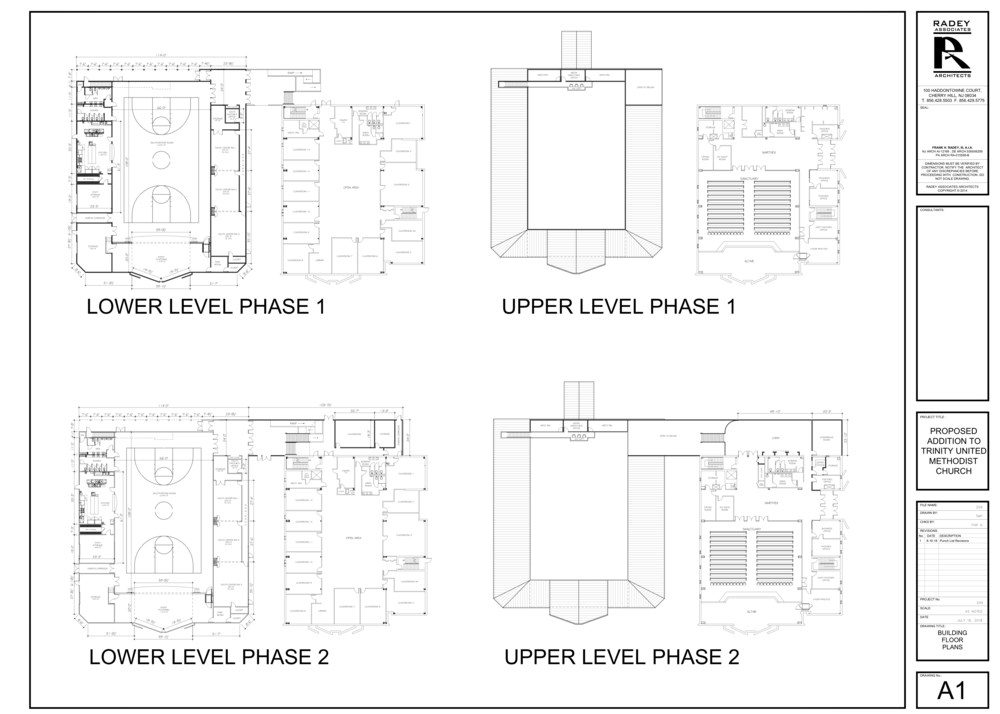 Building project floor plan