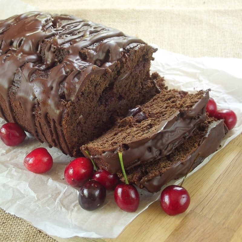 Vegan Chocolate Cherry Porter Bread