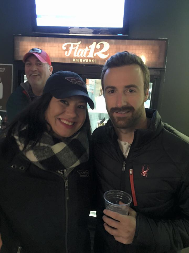 Friend of the brewery, Indy Car driver James Hinchcliffe joined us for the party