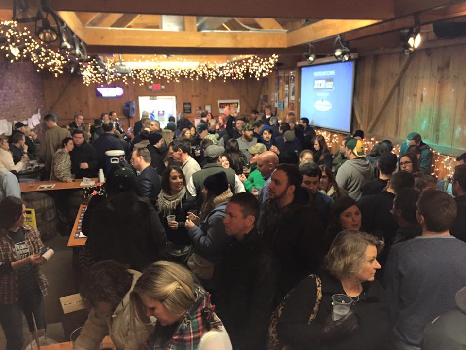 It was a packed house in the taproom for the celebration