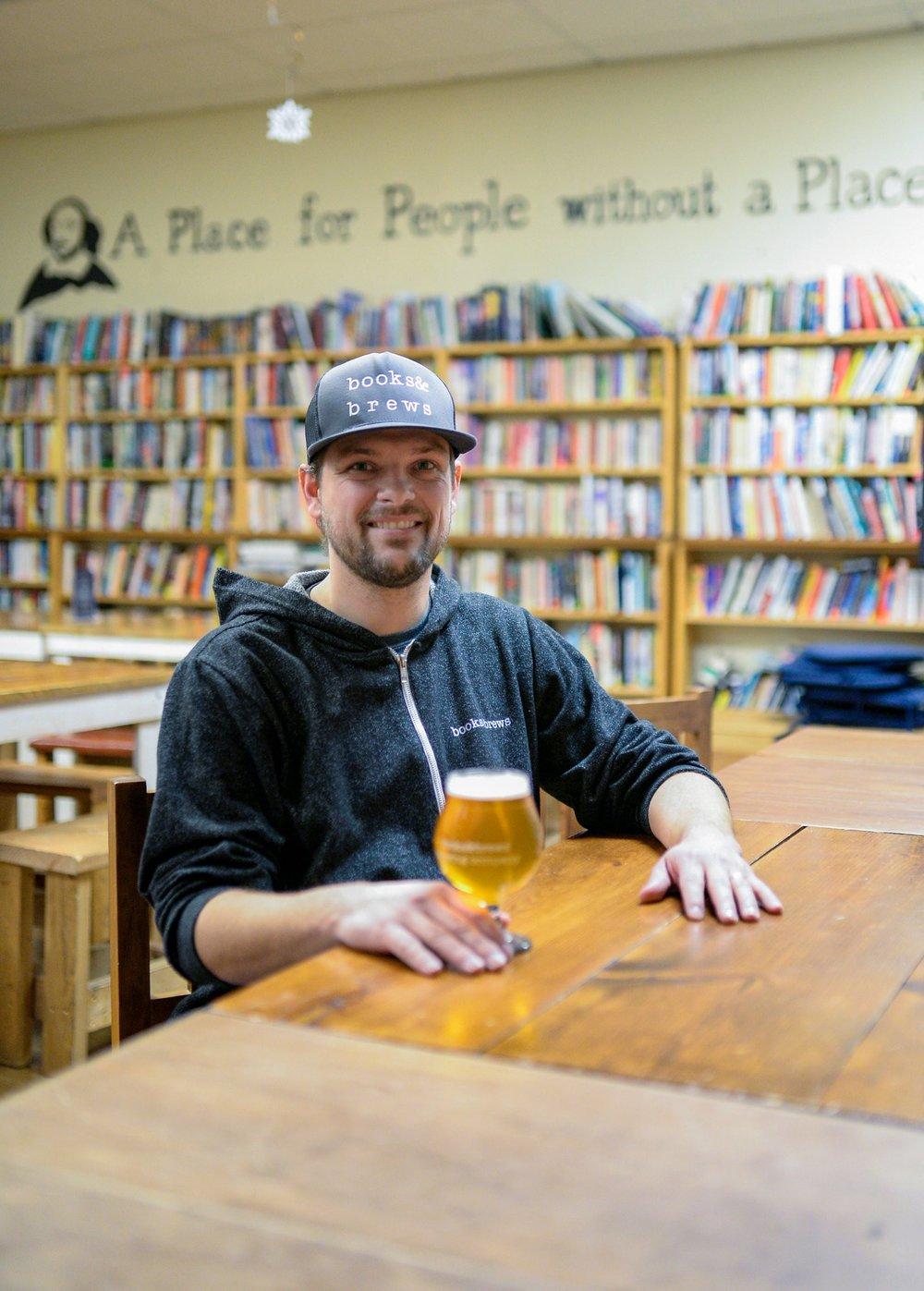 Flat12's new owner, Jason Wuerfel of Books & Brews