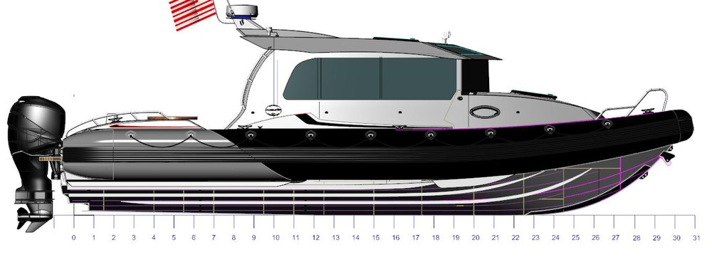 New 31FT Full Cabin as part of our Yachtline. The aluminum has been ordered and will be complete Q1 of 2019!