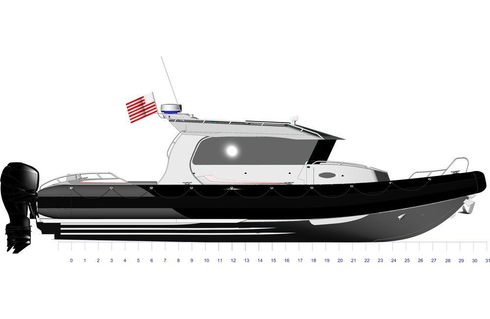 33FT Full Cabin Yachtline Side Profile.jpg