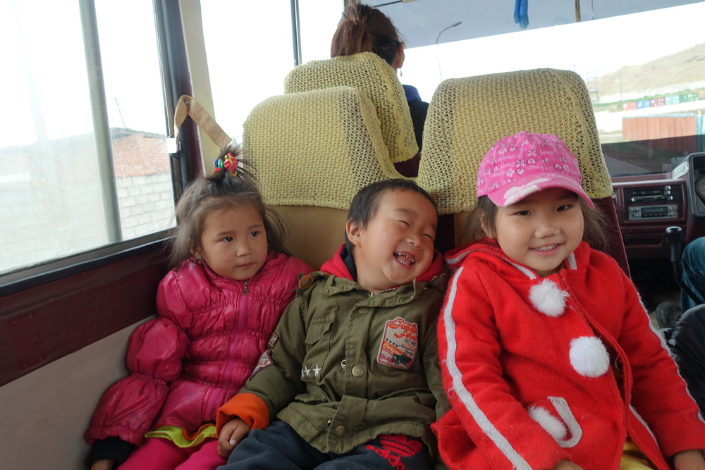40 kids in a bus made for 20