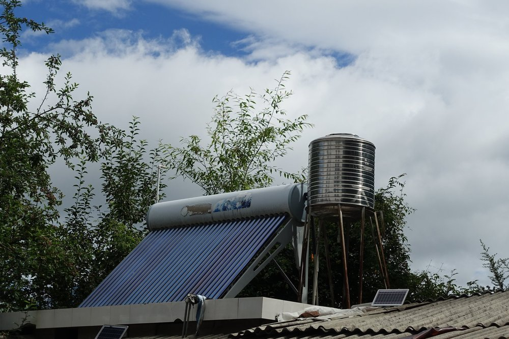 Solar power is used for more than electricity: most farms in the region have solar water heaters.