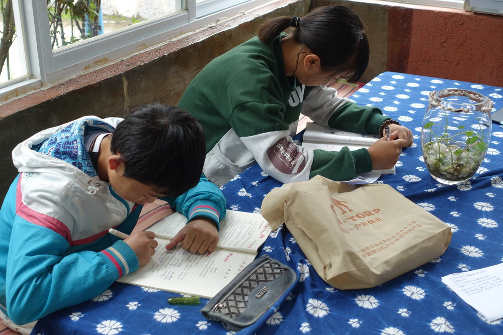 Local schoolchildren are always welcome to the GEC, whether it is to do their homework...