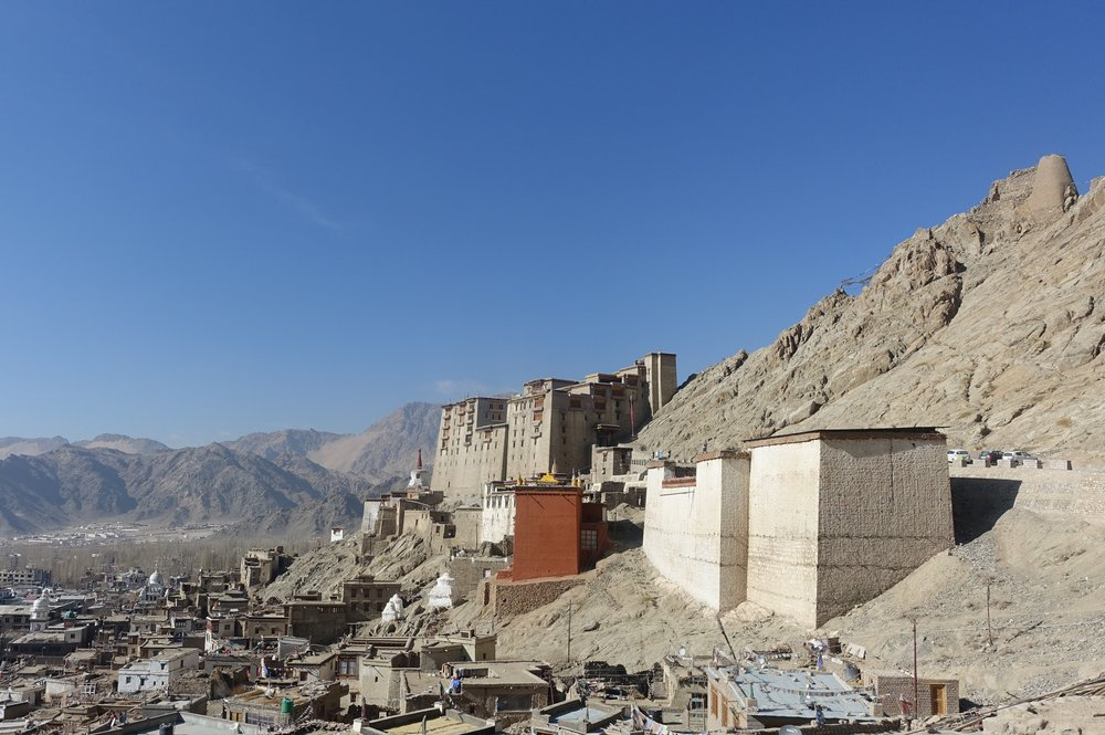 The former royal palace of Leh, Ladakh's capital
