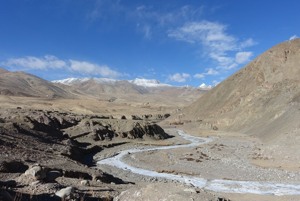 Typically barren high-altitude landscape of Ladakh