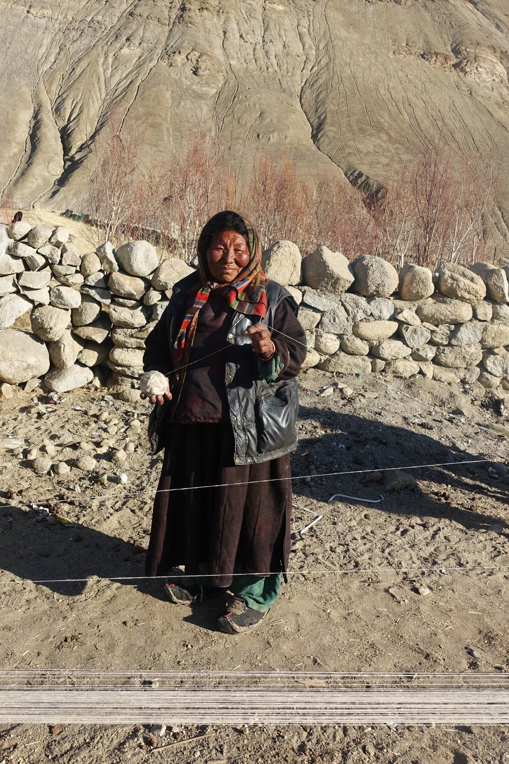 Ladakhi woman in traditional clothing
