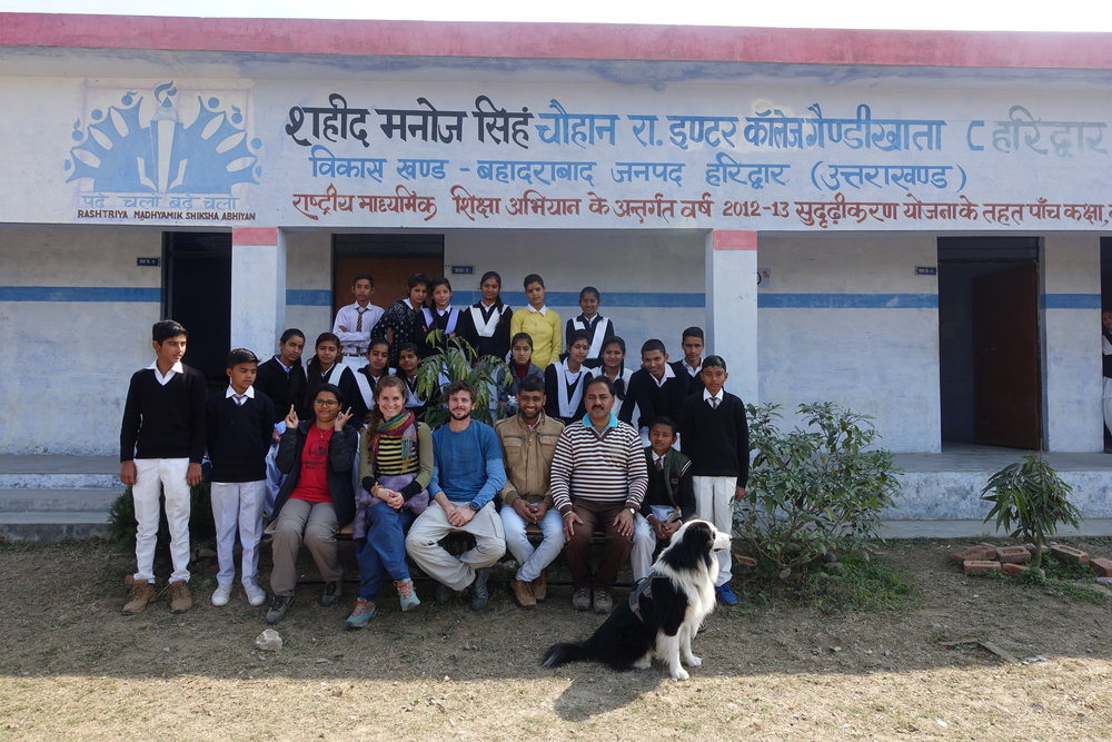 One of our school visits in a village of rural Uttarakhand.