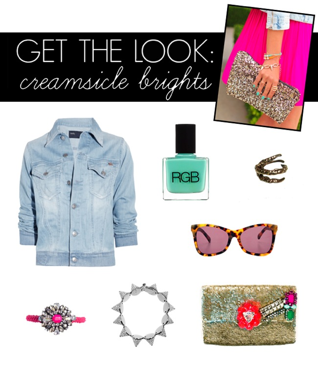GET THE LOOK  CREAMSICLE BRIGHTS