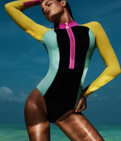Long sleeved swimsuit