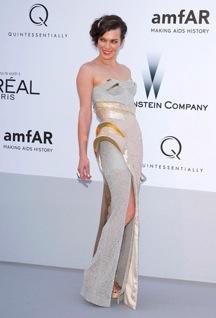Milla Jovovich in Atelier Versace