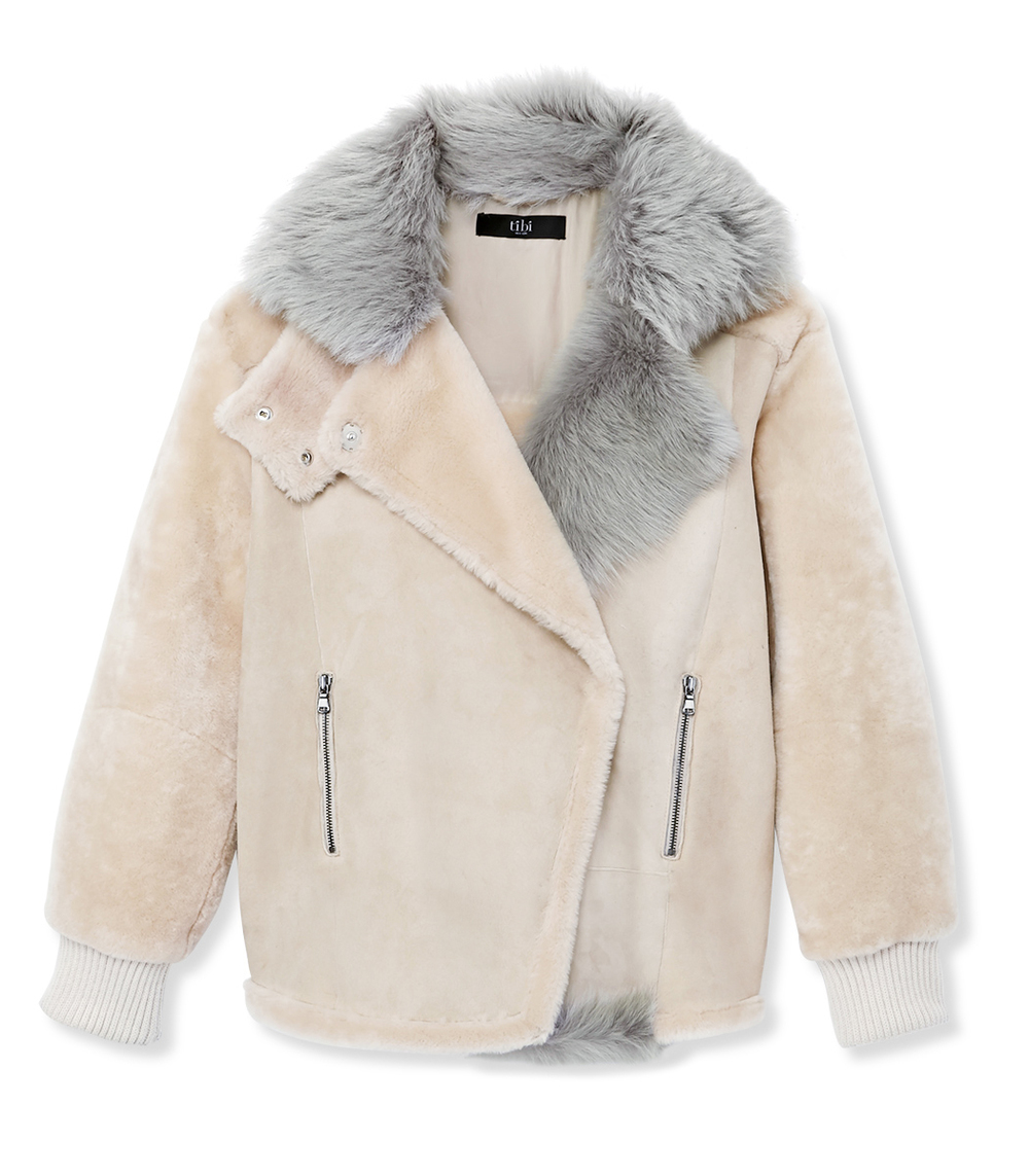 TIBI SHEARLING JACKET