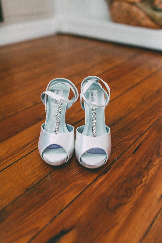 Up The Creek Farms, Palm Bay, Brevard County FL Wedding, bridal suite, shoe detail photo