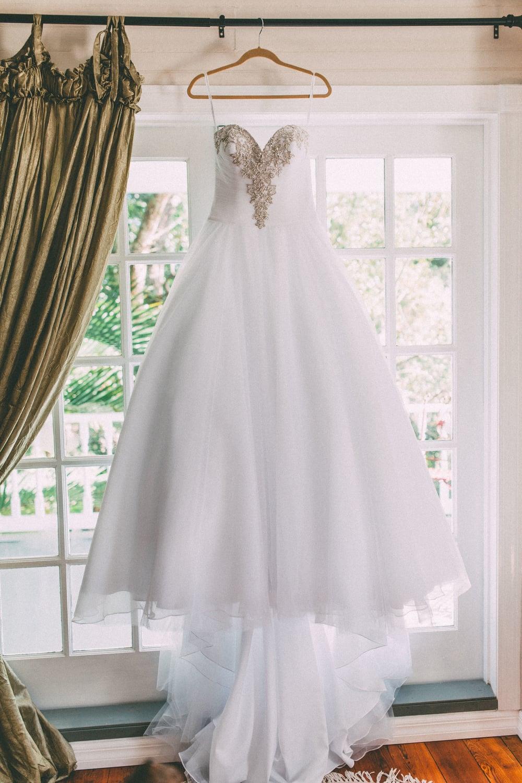 Up The Creek Farms, Palm Bay, Brevard County FL Wedding, bridal suite, wedding dress detail photo