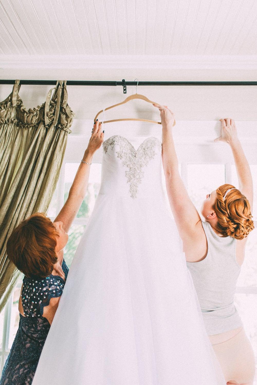 Up The Creek Farms, Palm Bay, Brevard County FL Wedding, bridal suite, dress detail photo