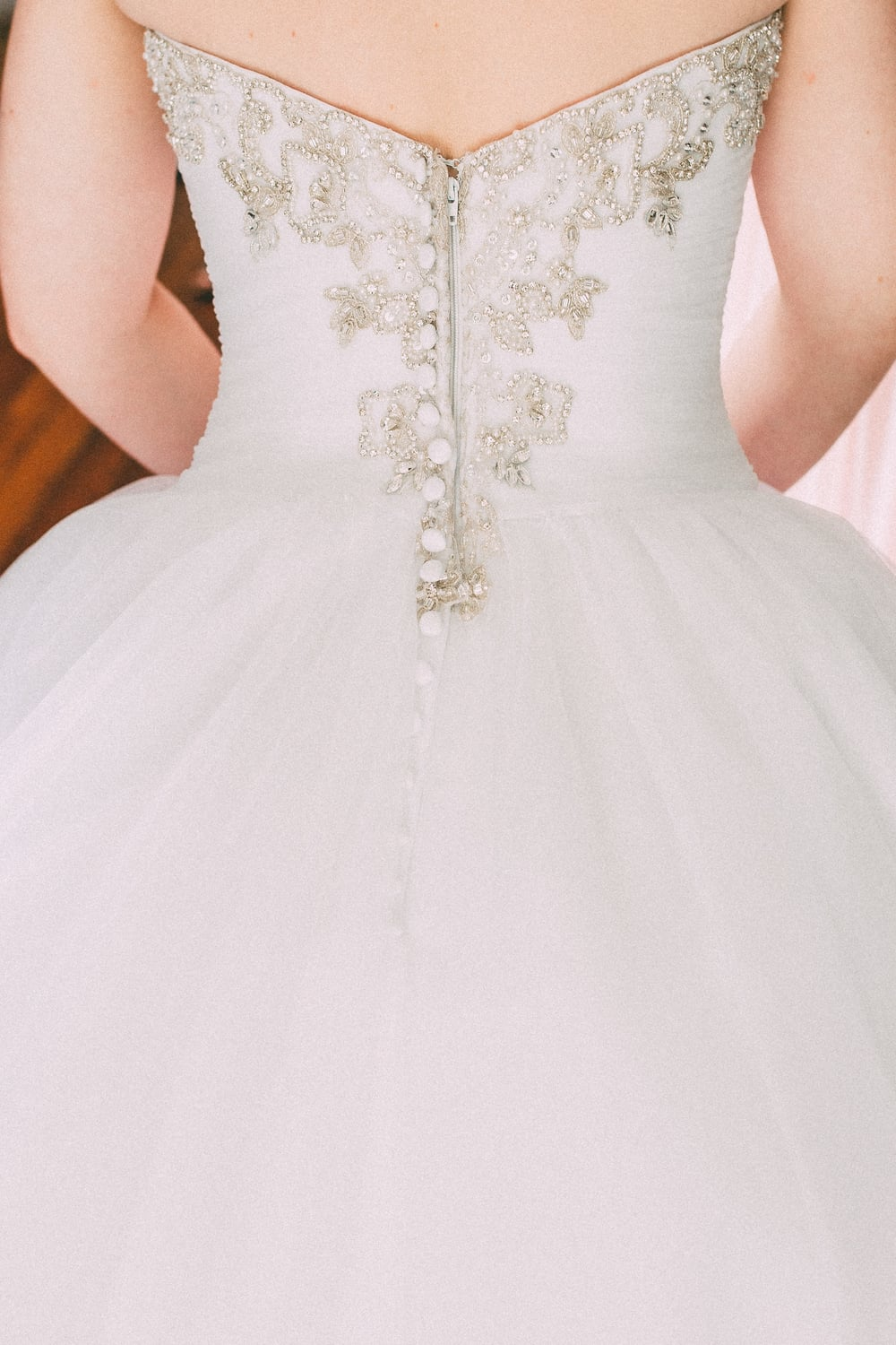 Up The Creek Farms, Palm Bay, Brevard County FL Wedding, bridal suite, back of dress photo