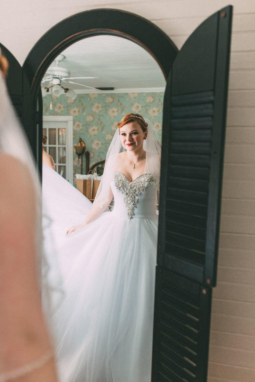 Up The Creek Farms, Palm Bay, Brevard County FL Wedding, bridal suite, bride, wedding dress photo