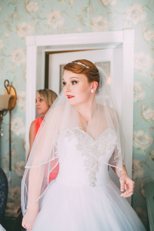 Up The Creek Farms, Palm Bay, Brevard County FL Wedding, bridal suite, bride veil detail photo