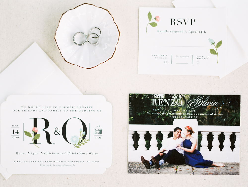 Sterling stables, brevard county FL wedding stationary invitation photo