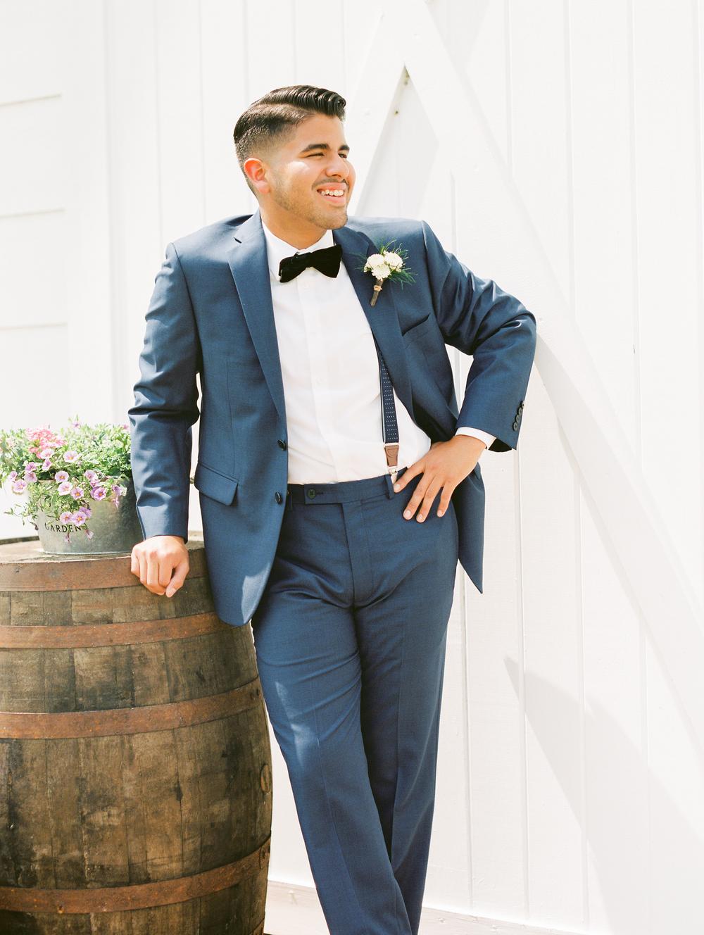 Sterling stables, brevard county FL wedding groom photo