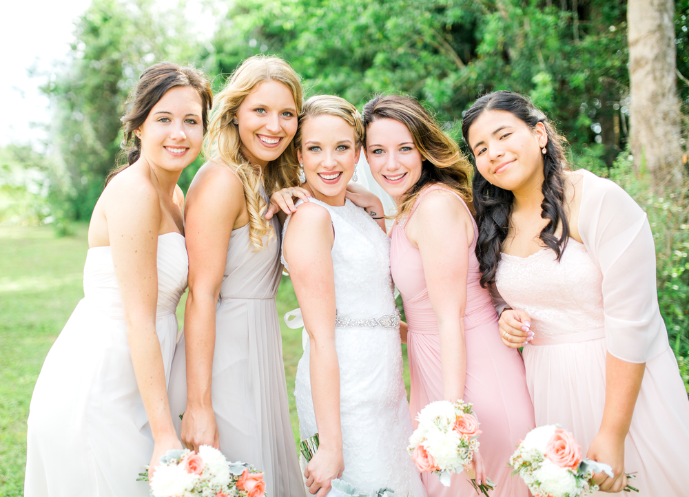 Sterling stables, brevard county FL wedding bridesmaids photo