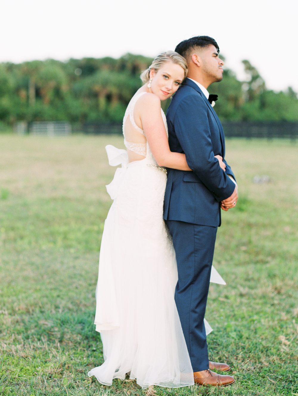 Sterling stables, brevard county FL wedding bride and groom photo