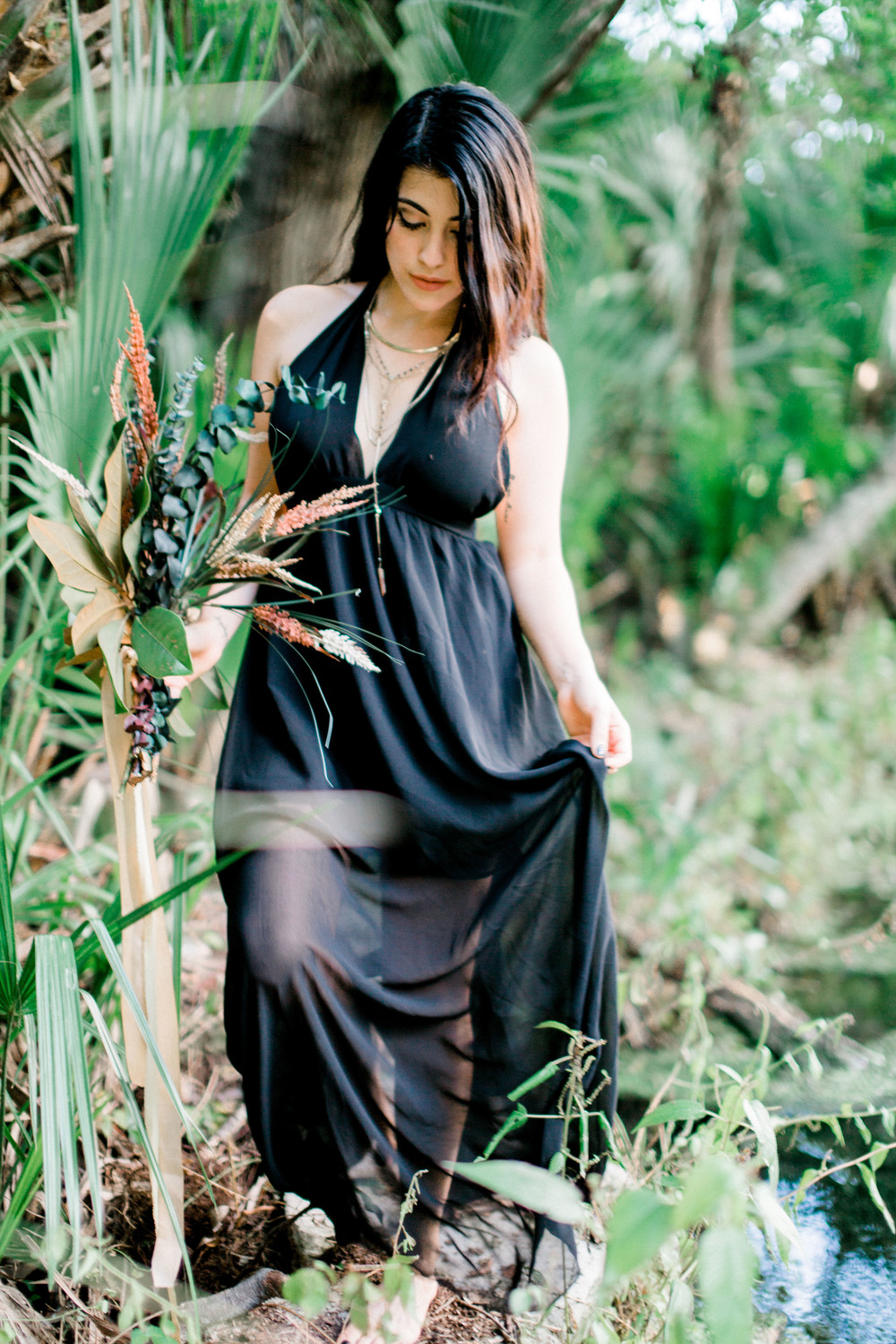 wekiva springs orlando florida model in dress photo