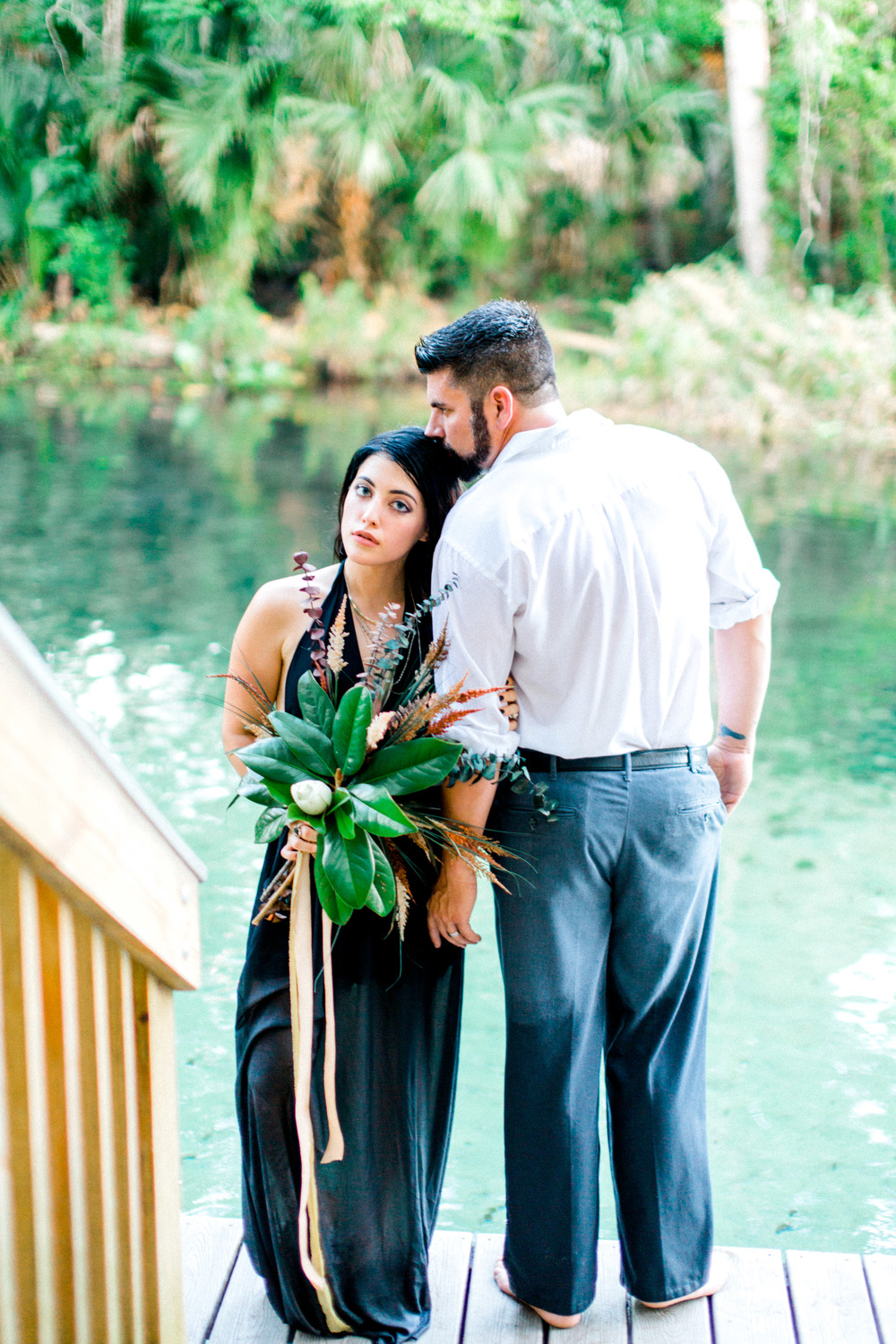 wekiva springs orlando florida engagement photo