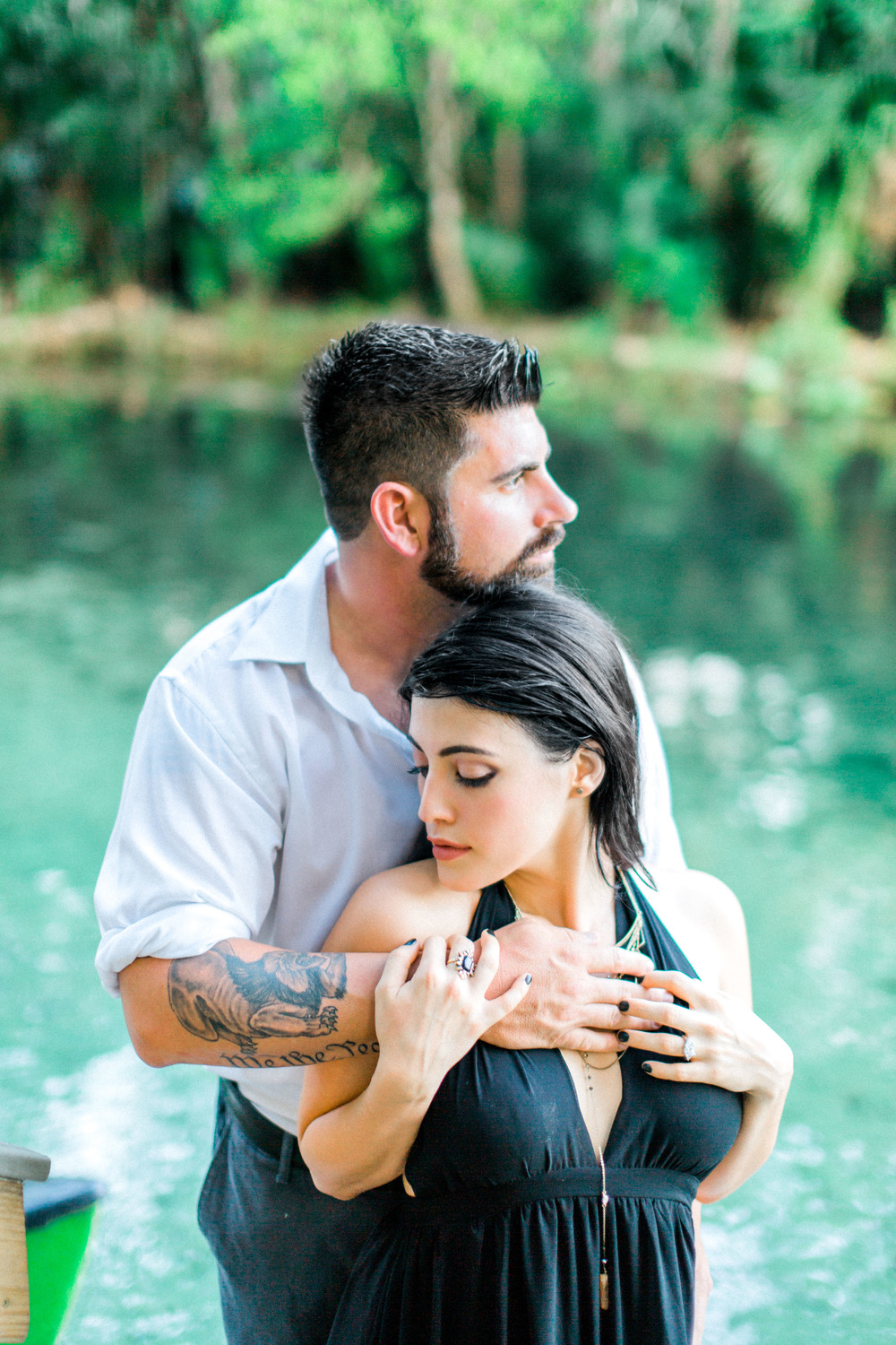 wekiva springs orlando florida engagement photos