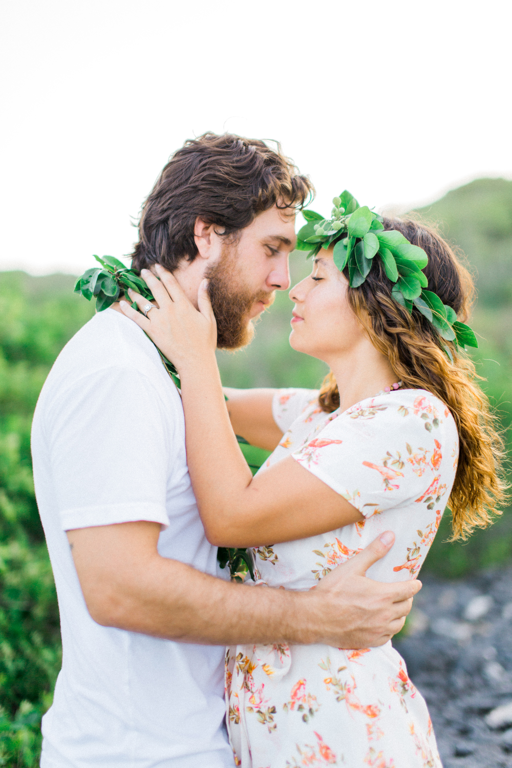 usvi st. thomas, water island tropical beach engagement photographer