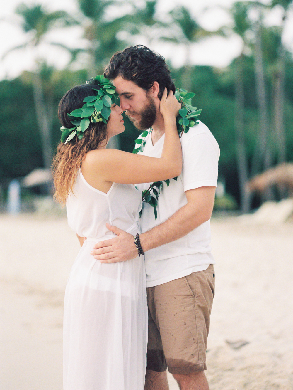 usvi st. thomas, water island honeymoon beach engagement photography