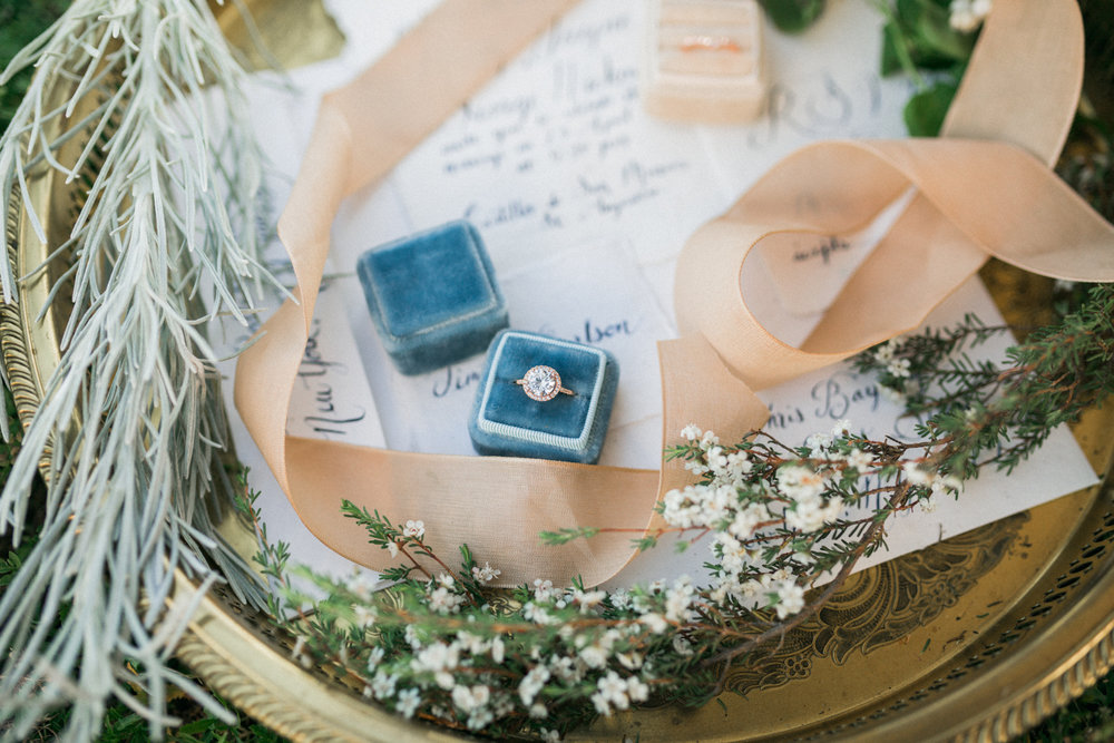St. augustine, castillo de san marcos styled wedding bridal photo, wedding ring with invitation suit
