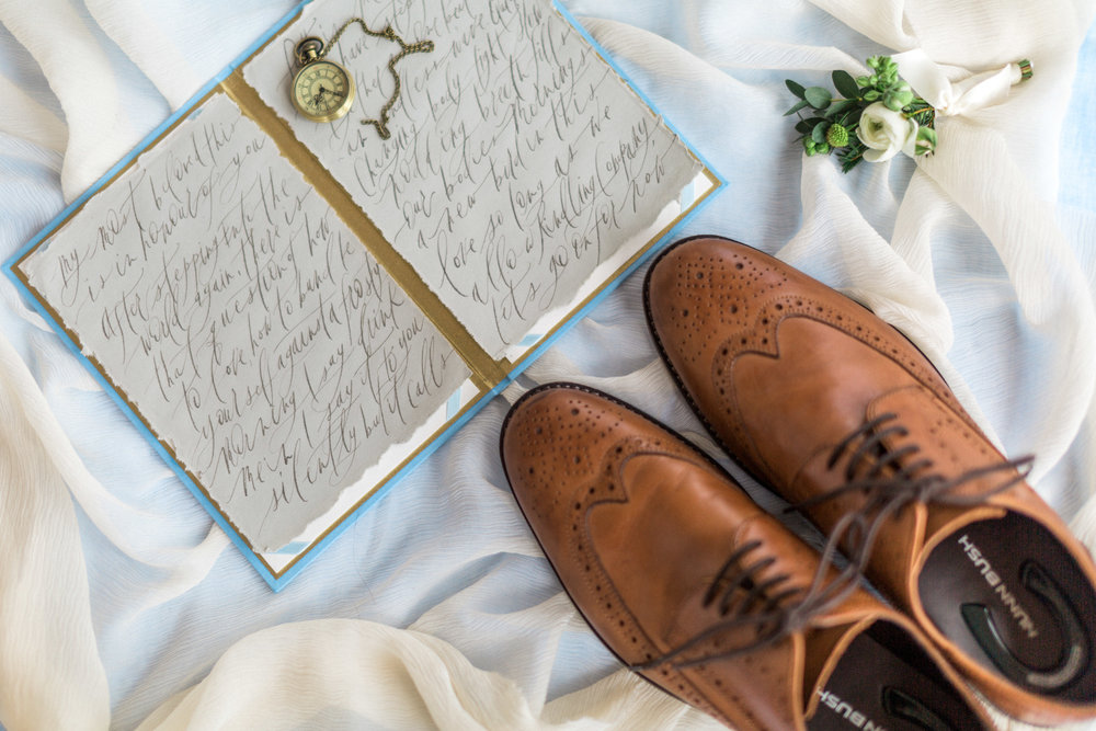 cypress grove estate house orlando florida wedding photos, calligraphy groom shoes