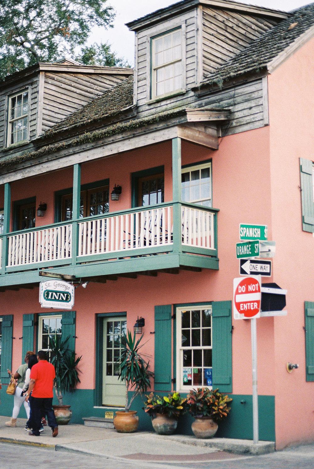 st augustine downtown orange street, king street, and spanish street architecture photo