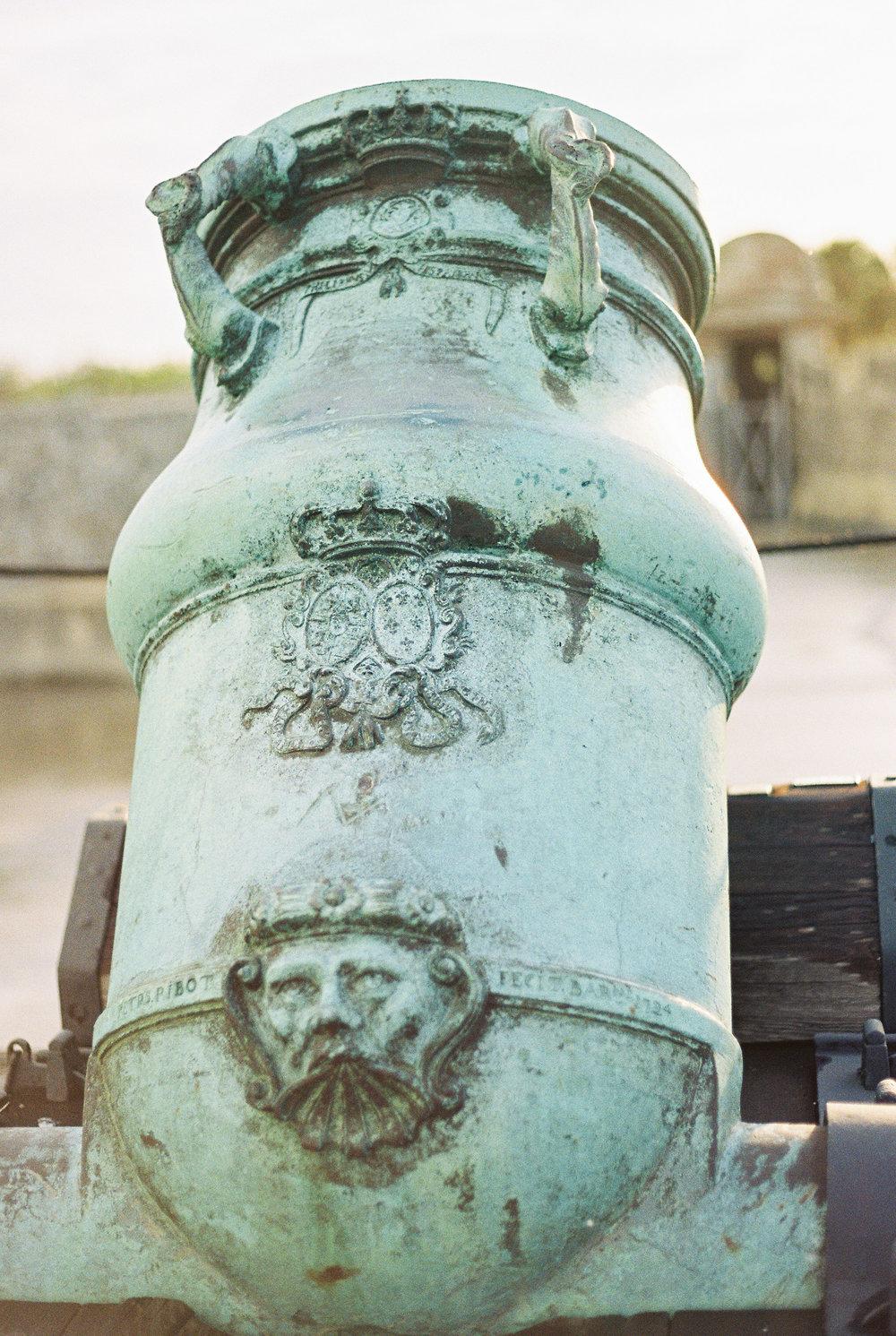 st augustine castillo de san marcos castle canon fort photo